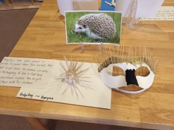 hedgehog clay and mask