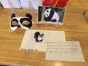 panda bear clay project