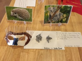 hedgehog clay work and mask